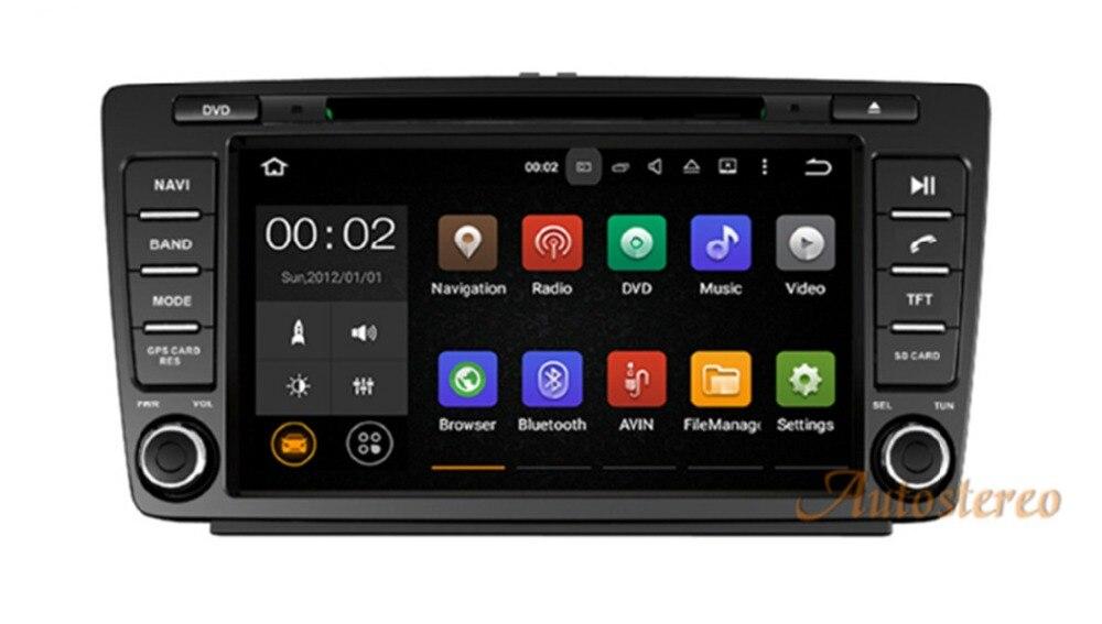 Autostereo Android 8 4g + 32g 8 Core 2Din Volant Pour Skoda Octavia 2 Voiture Multimédia DVD Lecteur magnétophone headunit 1080 p