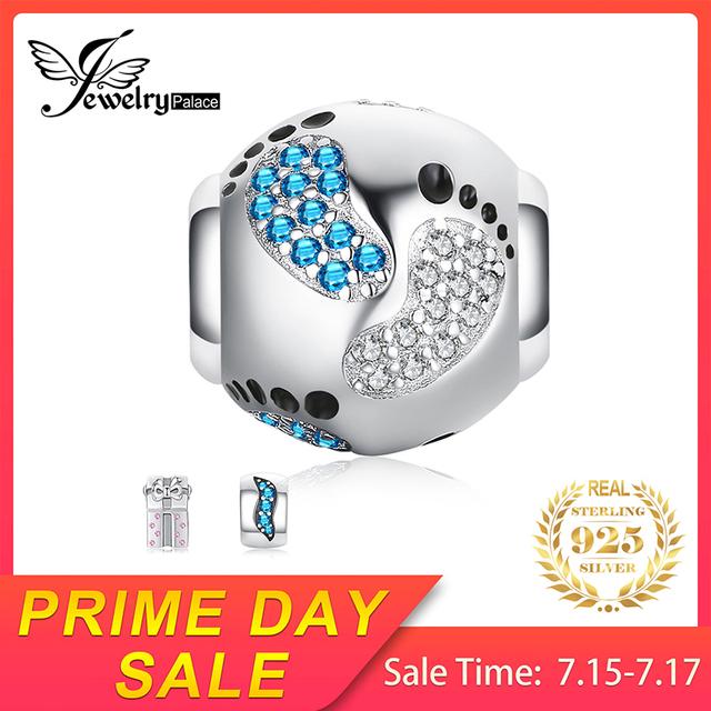 Blue Sapphire Footprint Charm