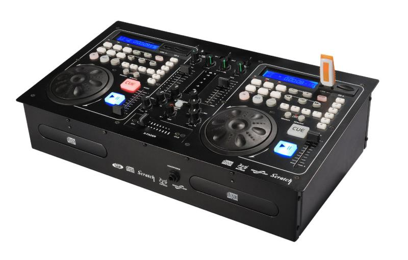 U disc player, CD disk player, DJ disc player control unit, one machine, disc player, mixer effect device. цена и фото