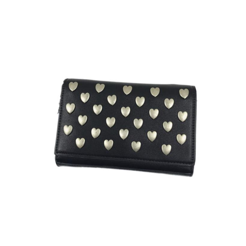 New Korean version of love silver button lady bag Xia inclined to wear one-shoulder envelope handbag small chain bag