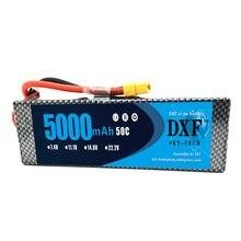 DXF-batería Lipo de 7,4 V, 5000mAh, 50C 100C 2S, AKKU, batería para camión, Dron, helicóptero, 1:8 / 1:10 RC, coche Quadcopter