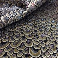 1 Yard 91*150 cm, Metallic Pavone Jacquard Brocade Fabric, Tessuto di Marca, Brillante Del Tessuto per il Vestito, Materiale per cucire Patchwork Tecido