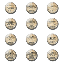 Pride and Prejudice Fridge Magnet Jane Austen Quote Glass Dome Magnetic Refrigerator Stickers Kitchen Tool ( 12pcs 25 MM )
