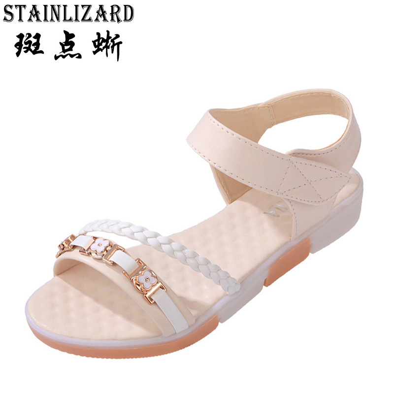 2017 New Summer Rome style flat base women shoes girl student Open toe Flat heels leisure seabeach women sandals ST86 high quality fashion women sandals flat shoes summer pee toe sandals indoor&outdoor leisure shoes dropshipping ma31