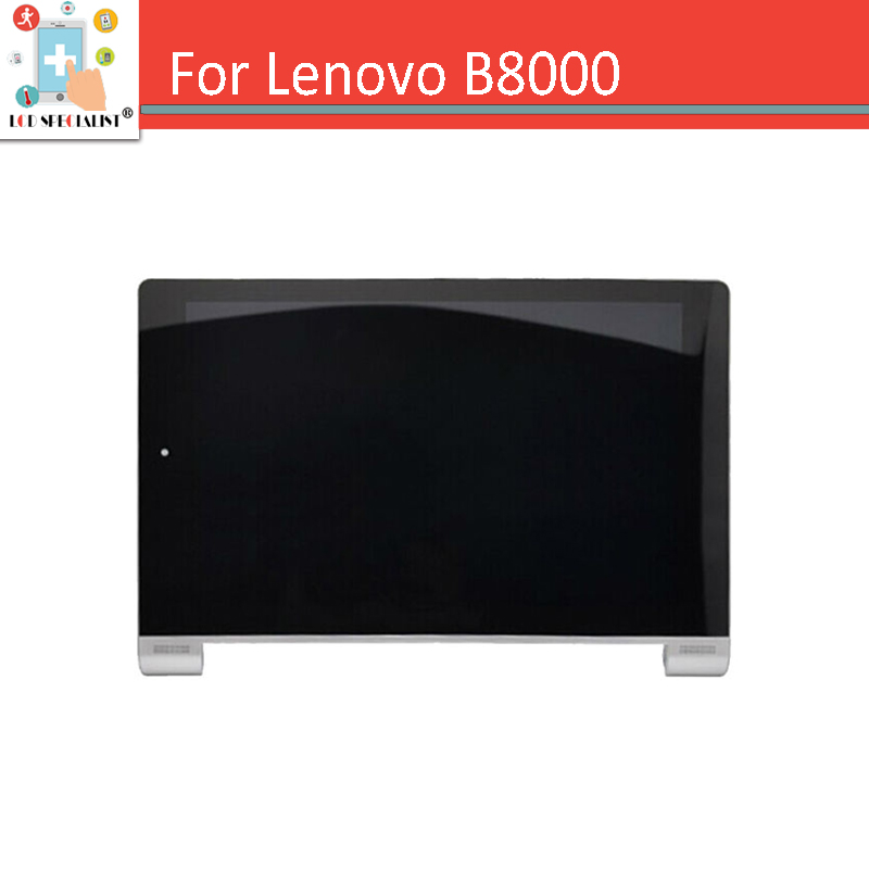 New Original 10.1 For Lenovo Yoga 10 B8000 LCD Display Panel with Touch Screen Digitizer Sensor + Frame Full Assembly Black original new 14 inch lcd screen display with touch panel digitizer replacement part for lenovo yoga 5 pro lcd assembly yoga 910