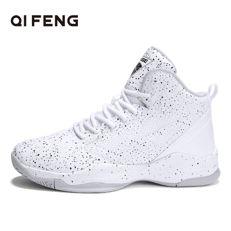 2019 New Men s basketball Shoes Zapatillas Hombre Deportiva White Footwear Men Ankle Boots Basketball Sneakers