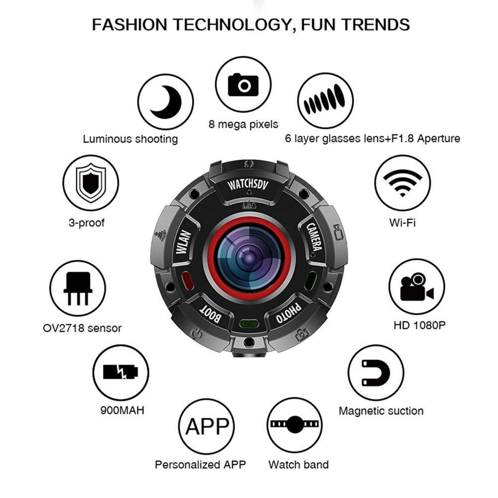 цена на Night Vision Watch Style Camcorder Mini Wearable DV Camera Device HD 1080P Waterproof Recorder Outdoor Sports WIFI Camera