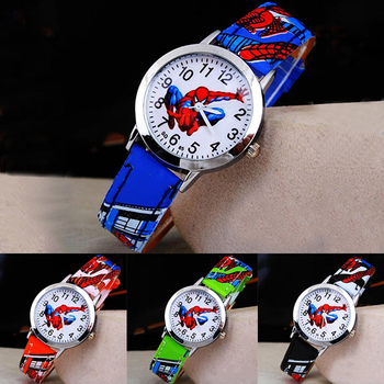 Bajkowy zegarek dla dzieci Spiderman skórzany pasek zegarek kwarcowy najlepszy zegarek dla dzieci prezent tanie i dobre opinie Disney 3Bar Moda casual QUARTZ STOP Sprzączka Hardlex 20cm bez opakowania 29mm Skórzane ROUND 14mm Odporne na wodę