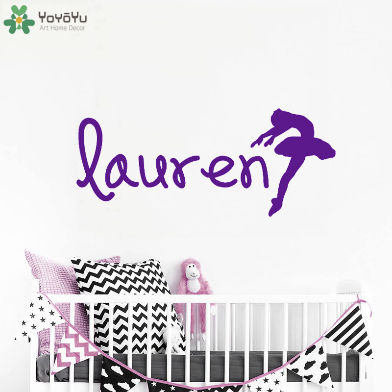 Yoyoyu Wall Decal Ballet Personalized Name Sticker Ballerina Vinyl Wall Stickers For Girls Bedroom Removable Home Decor Sy639 Let Our Commodities Go To The World Home Decor