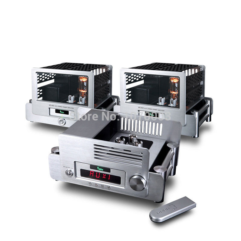 3PCS/Set YAQIN MS-845 Pre-amplifier+Mono Vacuum Tube Amplifier SRPP Circuit 845 Single-ended Class A Power Amplifier 110V/220V platinor platinor 50200 221