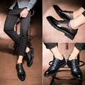 Korean Style Spring Color Fashion Urban Casual Shoes Leather Men Business Shoe Casual Carved Leather Brogue Shoe Men Casual Shoe