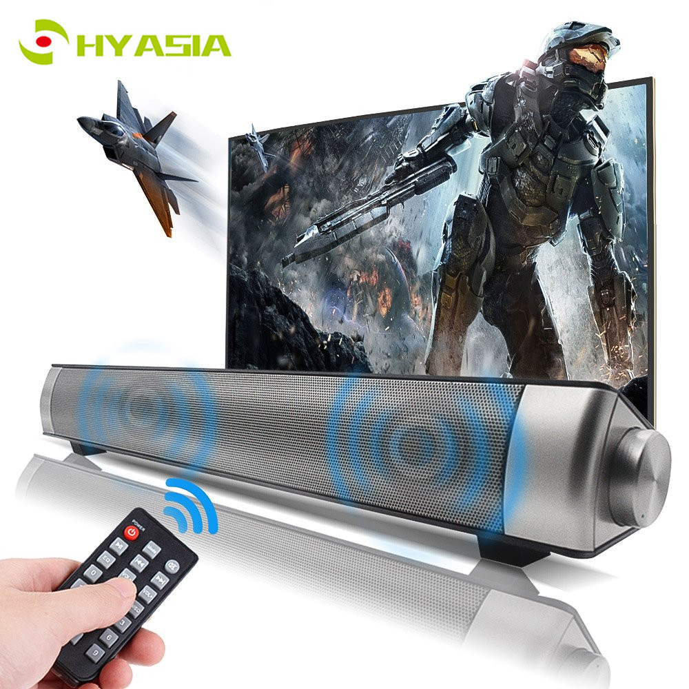 HYASIA Bluetooth 4.1 Soundbar Stereo Loudspeaker Wireless Speaker Bleutooth 5.0 Soundbar Home Theater Sound System PC Speaker TV