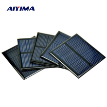 Aiyima 10pcs 5.5V 80MA Polycrystalline Poly Solar Panel Solar Cell For DIY Solar Battery Charger 60*60MM