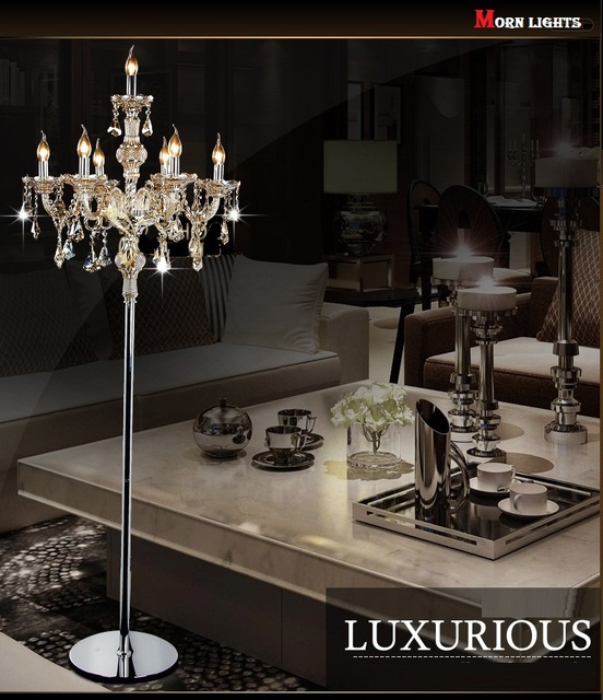 buy fashion modern crystal floor lamp