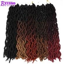 Богиня искусственные локоны в стиле Crochet волосы 20 дюймов мягкие натуральные синтетические вязанные крючком косы волосы для наращивания предварительно петлевые локоны оптом