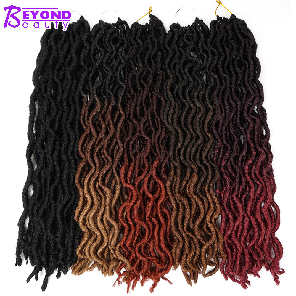 Goddess Faux Locs Crochet Hair 20Inch Soft Natural Synthetic Crochet Braids Hair Extensions Pre Looped Locs Bulk