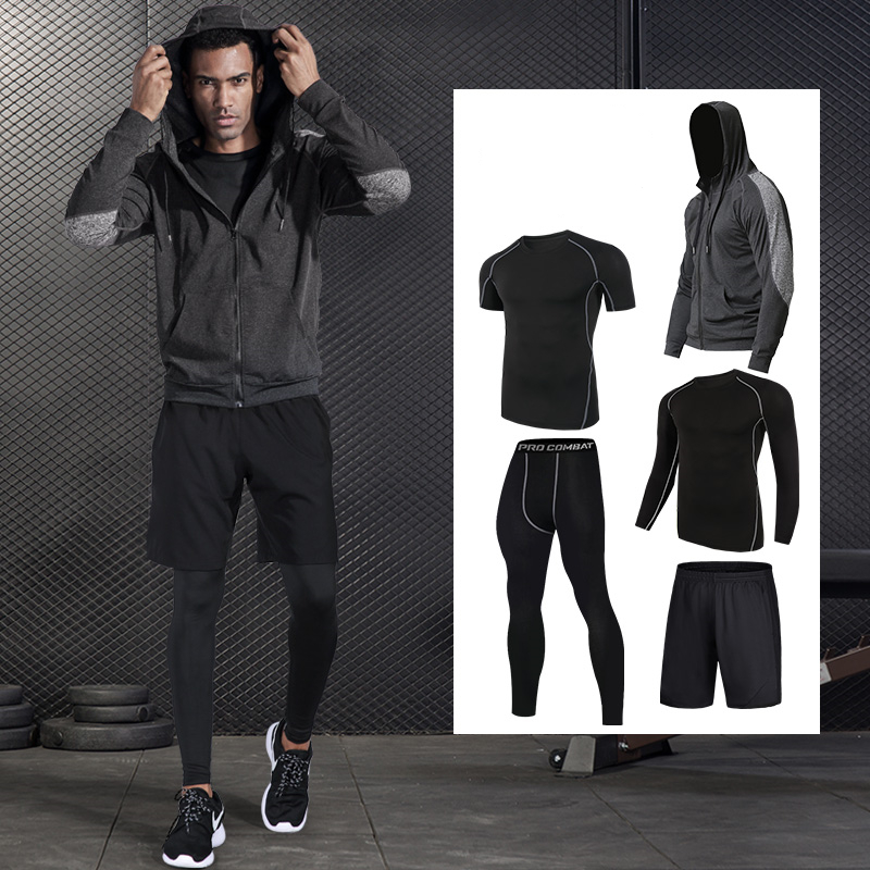 Gym Fitness Running Set Men s Sport Suit Compression Set Basketball Running Underwear Clothing Quick Dry