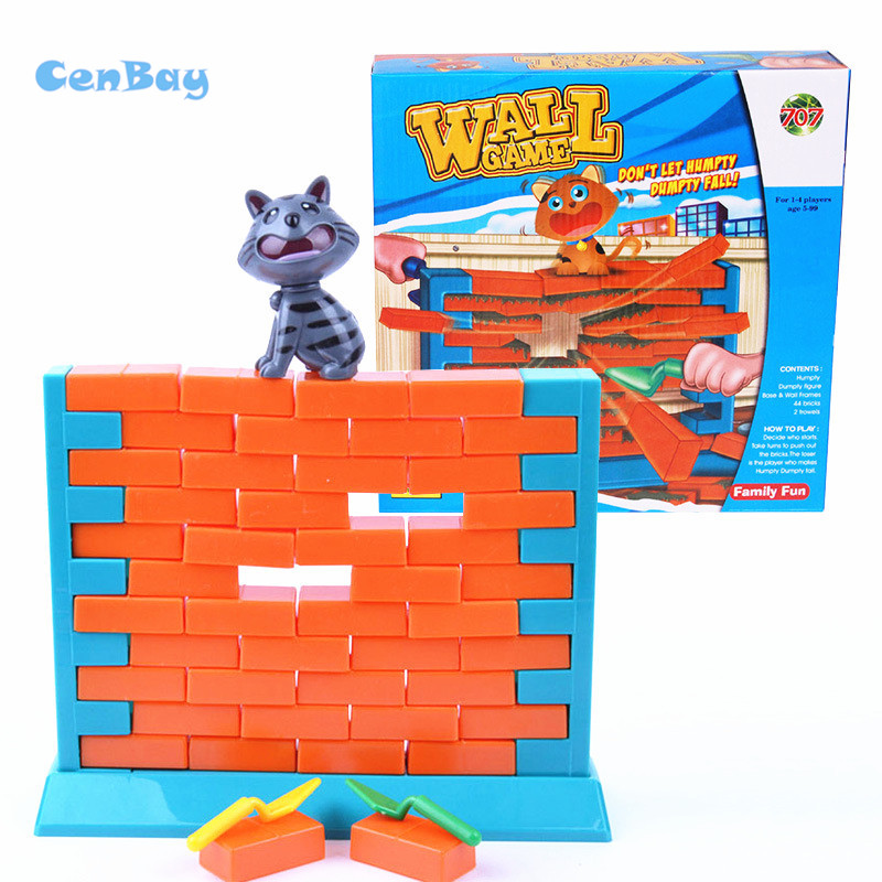 2 Styles Kids Funny Wall Demolish Game Humpty Dumpty's Wall Game Parent-child Interactive Game for Children Edaucational Toys creative kids toys tumbling monkey game falling toy tumbling monkey parent child interactive learning educational toys for child