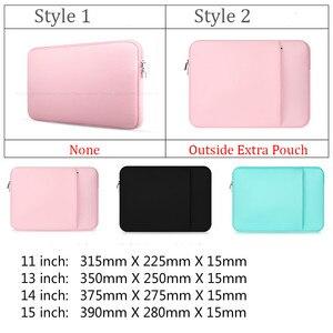 """Image 2 - Luva macia saco do portátil caso para macbook ar pro retina 13 11 15 14 """"para mac bolsa capa para notebook telefone mouse adaptador cabo"""