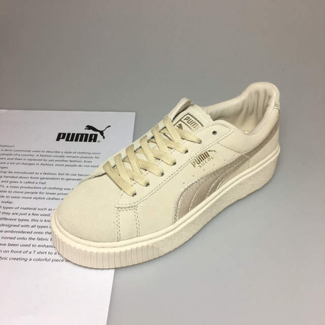 Genuine PUMA x FENTY Suede Cleated Creeper Men s Women s Second Generation  Rihanna Classic Basket Tone Simple 892ccd977
