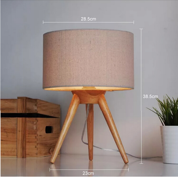 Free shipping modern table lamp wood light led light cloth lamp free shipping modern table lamp wood light led light cloth lamp shade three legs lamp bed room office table lamp in table lamps from lights lighting on mozeypictures Gallery