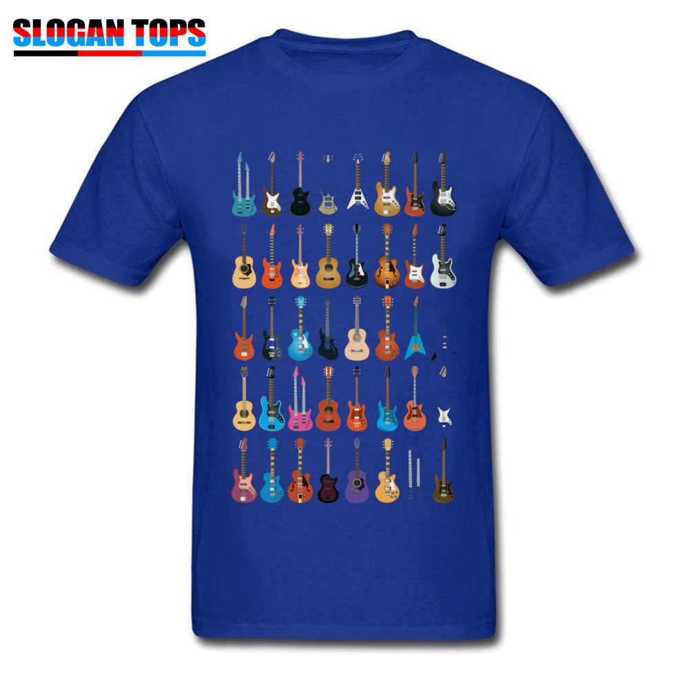 Love Guitar T-shirt Men Different Guitars T Shirt Music Lover Funny Tshirt Swag Clothing Custom Summer Coolest Black Streetwear