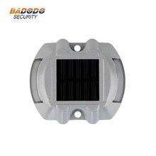 IP68 Водонепроницаемый светодиодный дорожный светильник на солнечных батареях, дорожный светоотражающий наземный Предупреждение ющий светильник