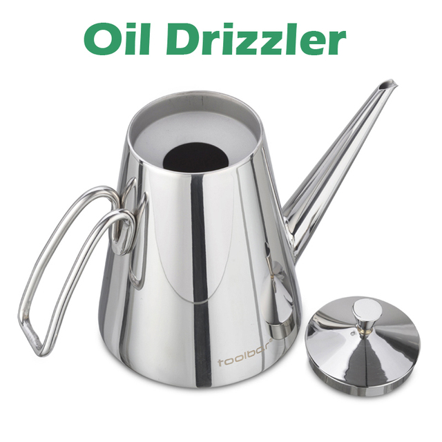 0.52 Litre Cooking Oil Pot Dripless Spout 18/10 Stainless Steel Kitchenwares  Free Shipping