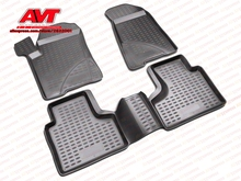 Floor mats case for Chevrolet Niva 2002-2009 4 pcs rubber rugs non slip rubber interior car styling accessories