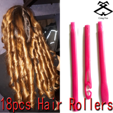 8 different sizes 18pcs/set plastic hair rollers with diameter 2.5cm curler new magic roller 2018 seller
