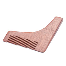 ZY Natural Wood Beard Shaping Tool Beard Trim Template Moustache Mold Shave Beard Modelling