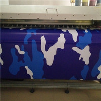 Blue White Camo Vinyl Car Wrap Sticker Snow Camouflage Car Sticker with Air Free Truck Vehicle Covering