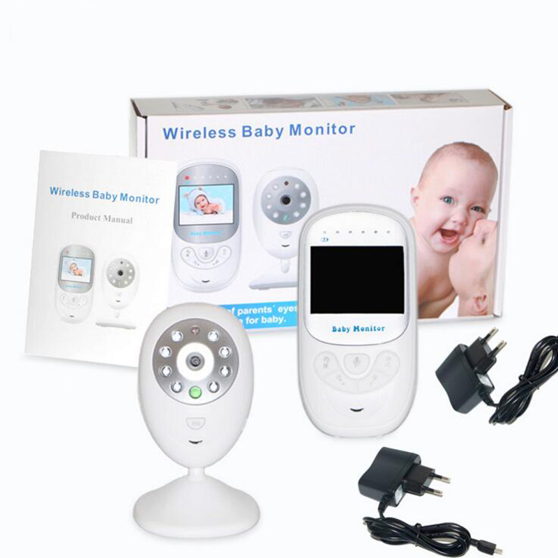 2 4 inch lcd baby monitor with camera ir night vision 2 way talk lullabies temperature monitor. Black Bedroom Furniture Sets. Home Design Ideas