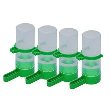 New 4x Bird Pet Water Drinker Food Feeder Waterer Clip for Aviary Budgie Plastic(China)