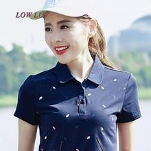 Summer new large size women POLO lapel leisure cotton Slim half sleeve short sleeve female