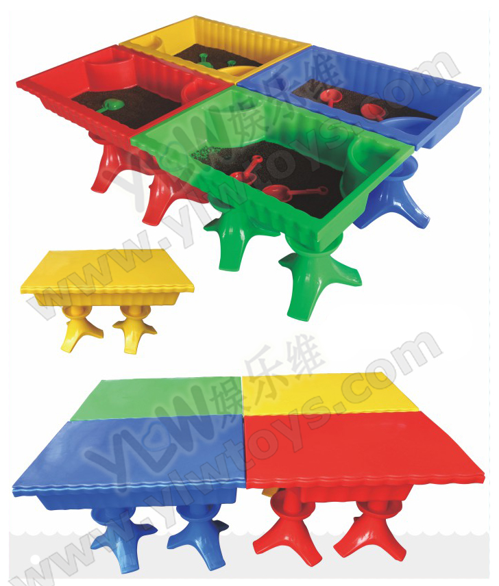 School Kids Plastic Sand Table With Cover Plastic Toys For Indoor Playground