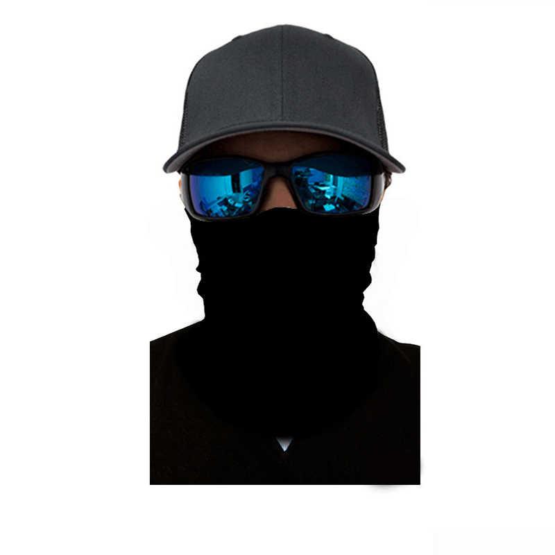 3D одноцветная бандана буффы Cuello шеи Gaiter повязка на голову лыжный Балаклава многофункциональная головная повязка черная бандана на открытом воздухе Волшебный шарф