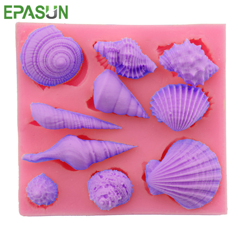 EPASUN Sea Animal Soap Mold Silicone Shell Form DIY For Making 3d Moulds Sugarcraft Seifenform Handmade Craft Decorating Tool