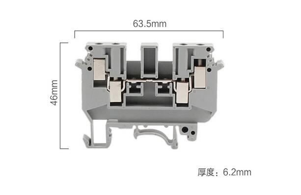VK UDK4 UD K4 Double in Double out Din Rail Electrical Conductor Terminal Block Connector