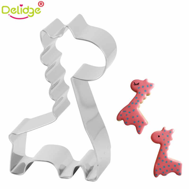 Delidge 1 قطعة الفيل بطة شكل الكعكة العفن الزرافة البومة الحيوان الحصان حمامة القاطع أدوات الخبز موس الدائري