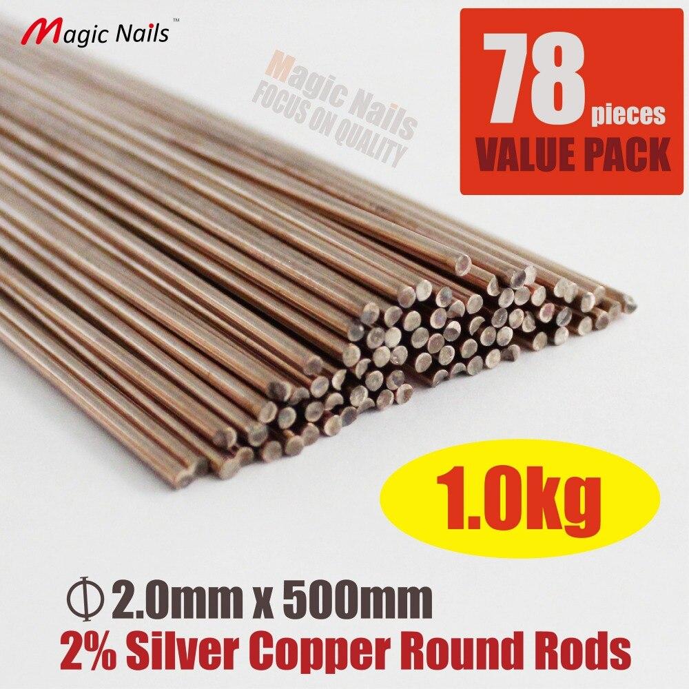 Здесь можно купить   2% Silver 2mm Diameter Copper Round Bar Copper Rod 500mm Long   HL209-2-78 Строительство и Недвижимость