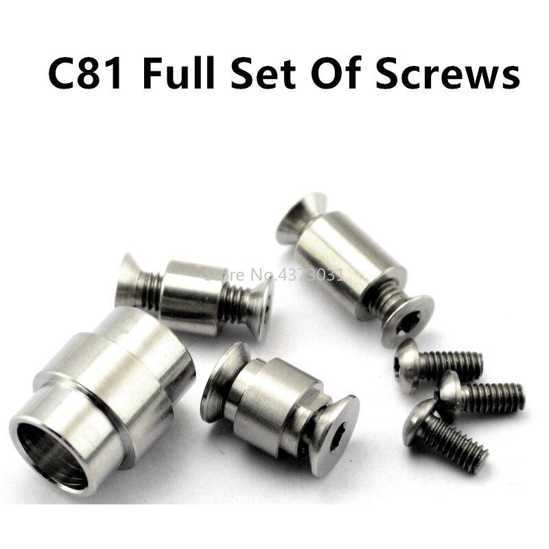 Conjunto completo de liga titânio prego para faca c81 parafuso aranha lidar com parafuso c81 para/2 lâmina parafuso edc faca c81 conjunto completo de parafusos