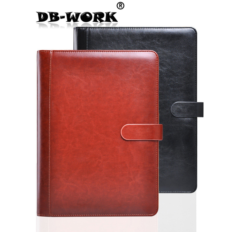 2018 A4 leather folder Business Notebook Multi-function calculator sales powder Data manager clip qshoic a4 multi function business manager clip to high grade leather with calculator folder file pu leather document folder