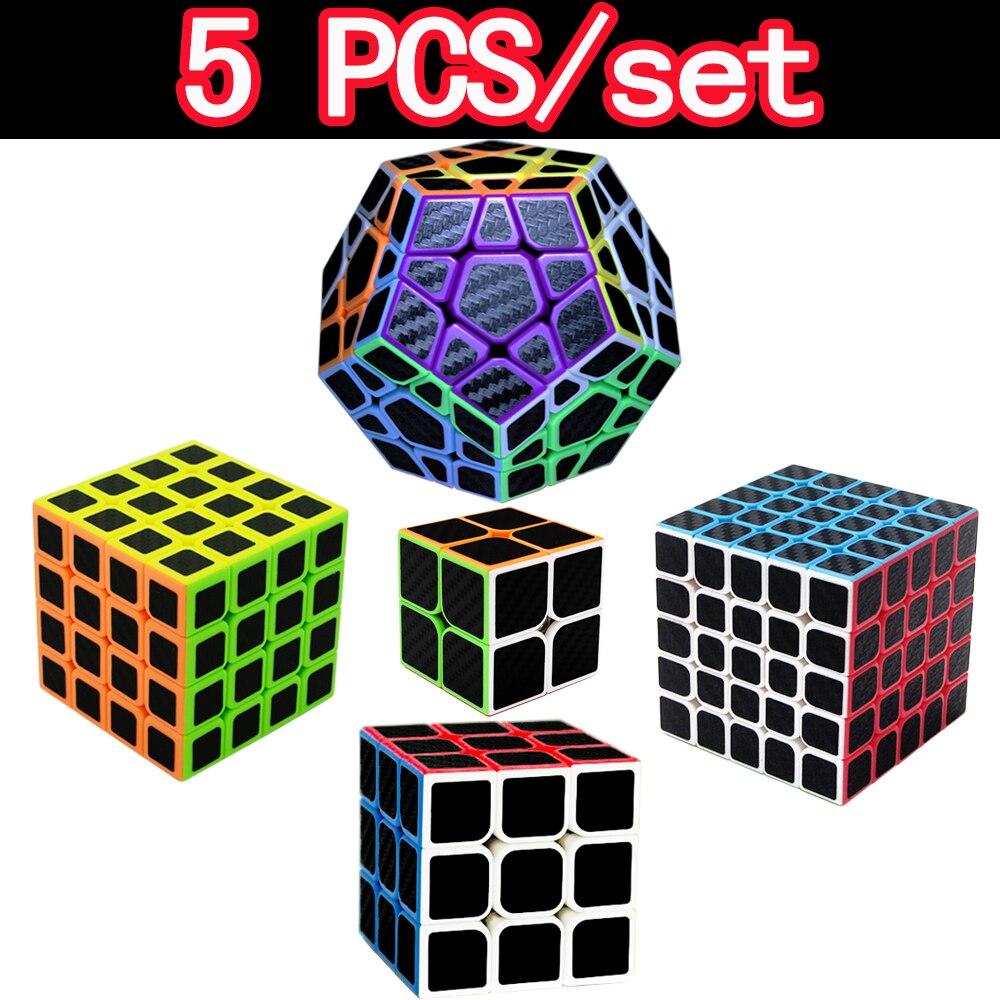 5 pièces/ensemble 3*3 4*4 Vitesse ZCUBE Cubes Magiques 3x3x3 2x2x2 4x4x4 Megaminx 2 3 Couches Puzzle Cube 2*2 5*5