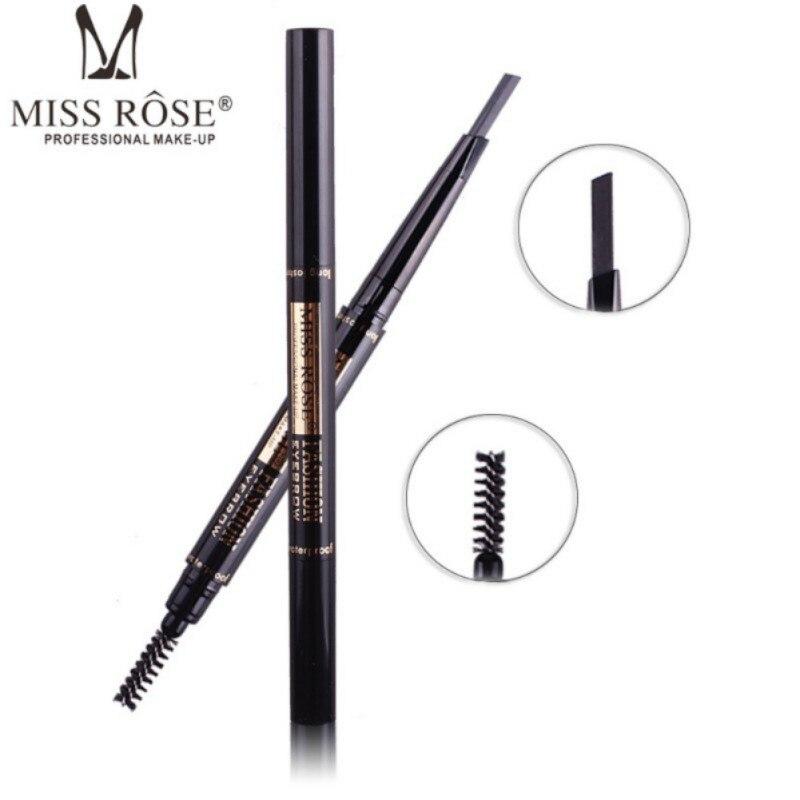 Мисс Роуз бренда дважды конец Водонепроницаемый пигменты карандаши для бровей чёрный; коричневый Цвет бровей Pen Красота макияж инструменты