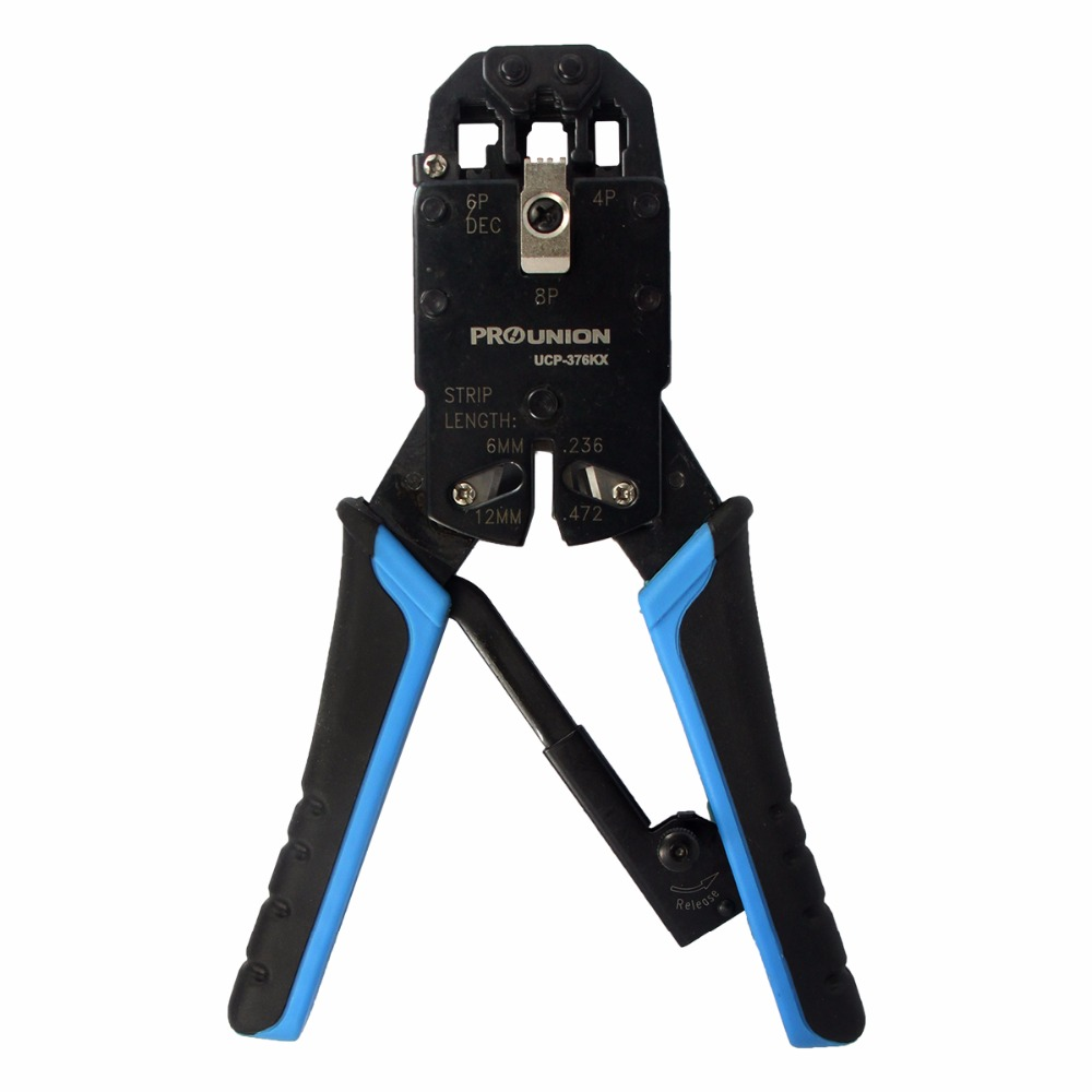 Free Shipping Pro'skit UCP-376KX 4P/6P/8P Professional Network Crimping Pliers Crimping Tool Hand Tools Electric Wire Crimpers professional hand tool wire tripper long float nose nanual wire tripper hot sale wire tripper free shipping