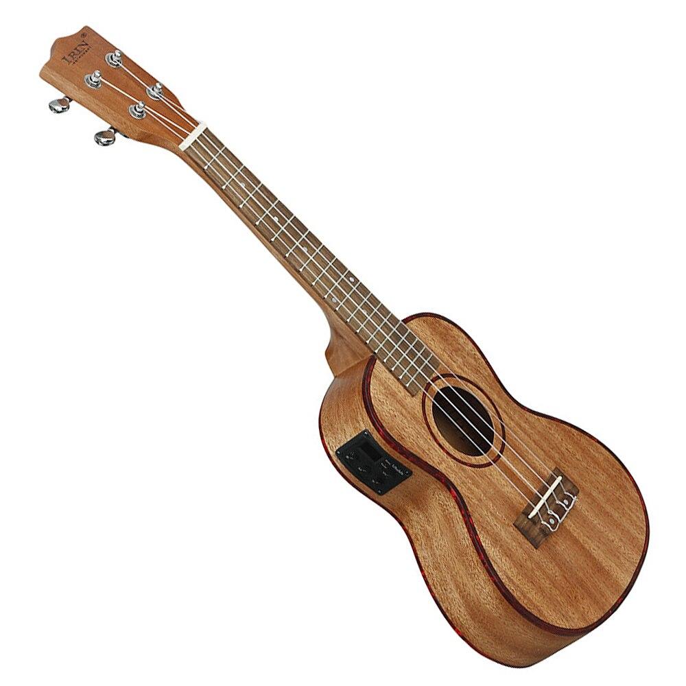 24 pouce Électroacoustique Ukulélé Nacre Bord 18 Frette Quatre Cordes Hawaï Guitare avec Intégré EQ Ramassage