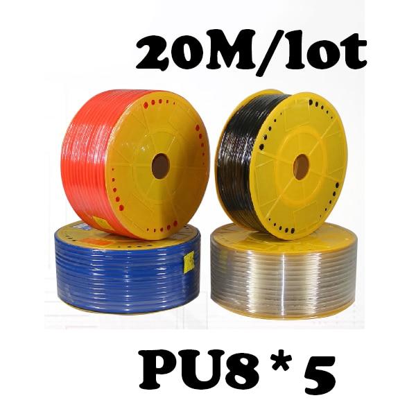 PU8*5 20M/lot Pneumatic parts 8mm PU Pipe  for air pneumatic hose 8*5 Compressor hose Free shipping pu4 2 5 20m lot free shipping pneumatic parts 4mm pu pipe for air pneumatic hose 4 2 5 compressor hose