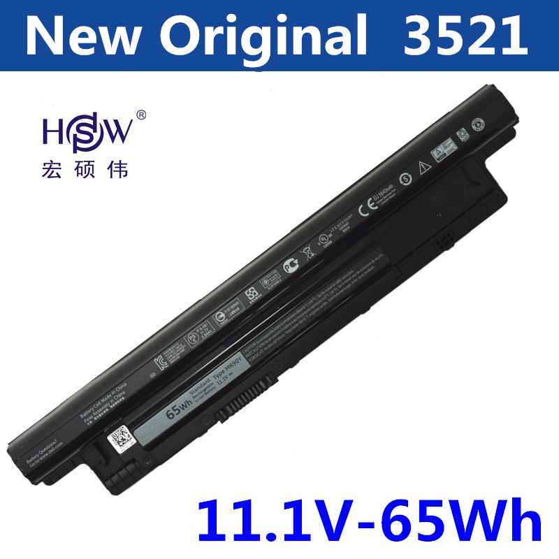 HSW Laptop Battery For Dell Inspiron 17R 5721 3721 15R 5521 15 3521 14R 5421 14 3421 MR90Y VR7HM W6XNM VOSTRO 2521 2421 14 8v 40wh original xcmrd battery for dell inspiron 14 15 17 n3421 n3421 3521 5421 3521 5521 3721 5721 2421 2521 14r 15r