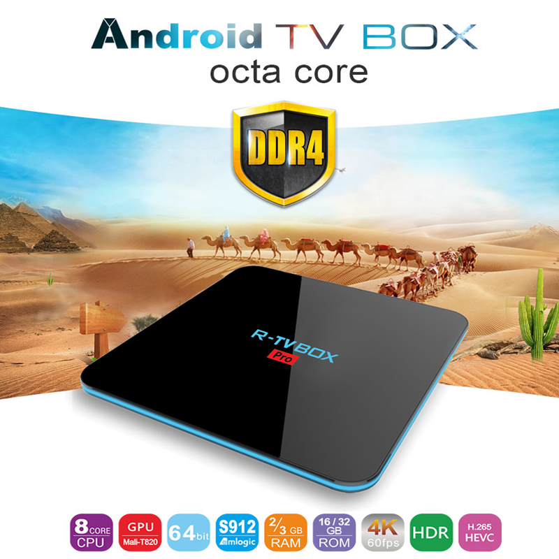 R-TV BOX Pro Android 7.1 KODI17.1 Ram2/3G Rom16/32GB S912 Octa-core 4K SmartTV BOX 2.4G/5GWIFI Bluetooth 1000M LAN DLNA Miracast телевизор philips 49pus6501 60 uhd smarttv android tv серебристый